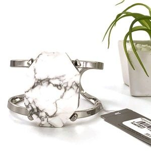 Nordstrom Bracelet Statement Bangle Stone Silver